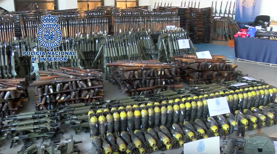 10,000+ arsenal of weapons intended for terrorists seized by Europol (VIDEO, PHOTOS)