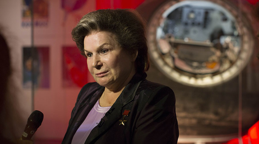 First woman in space Valentina Tereshkova shares life tips at London expo (VIDEO)
