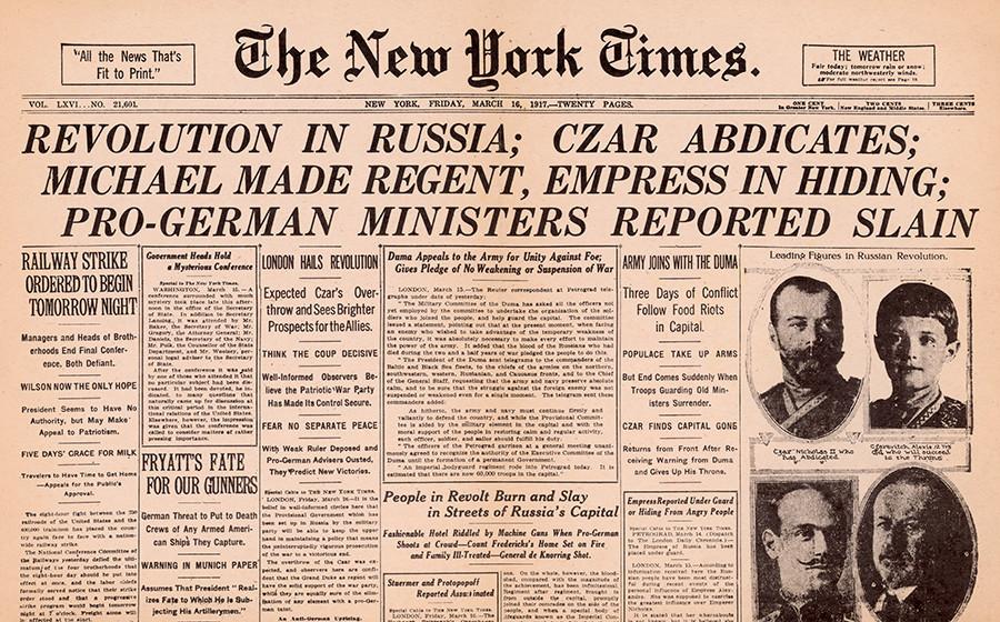 'Amazing news from Petrograd': Western press' caustic ...