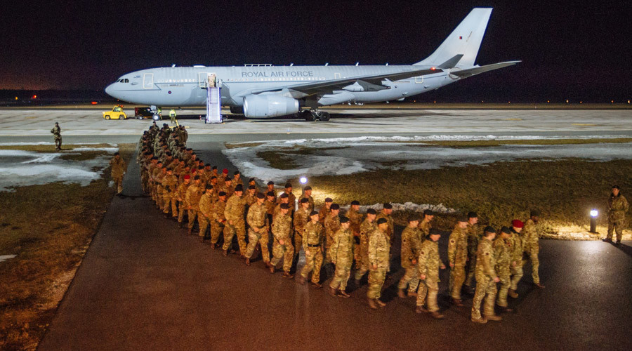 UK troops deployed in Estonia to 'defend NATO' from Russia (VIDEO)