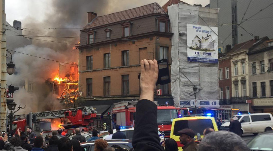 7 injured as huge gas explosion rocks Brussels neighborhood (VIDEO, PHOTOS)
