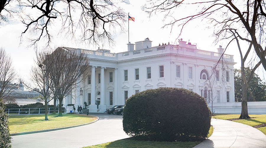 Security alert at White House after reports of person with bomb inside car