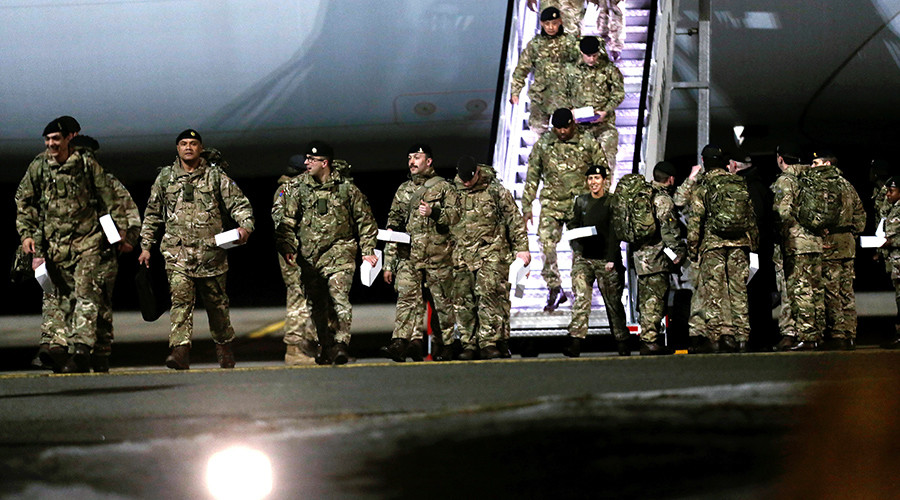 NATO logic: British troops in Estonia, good. Russian soldiers in Russia, bad