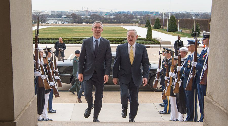 'Very strong bond': Mattis meets with NATO chief ahead of anti-ISIS summit
