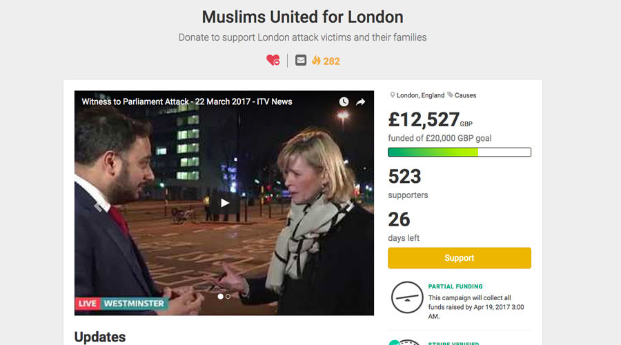 Muslims raise over £12k for London attack victims in under 24 hours