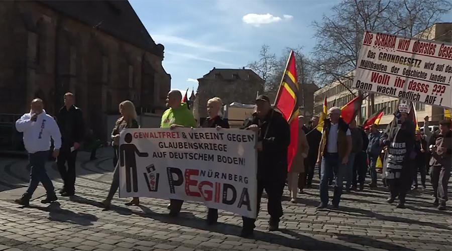 PEGIDA marks anniversary with Nuremberg march against Islamization, EU & Erdogan (VIDEO)