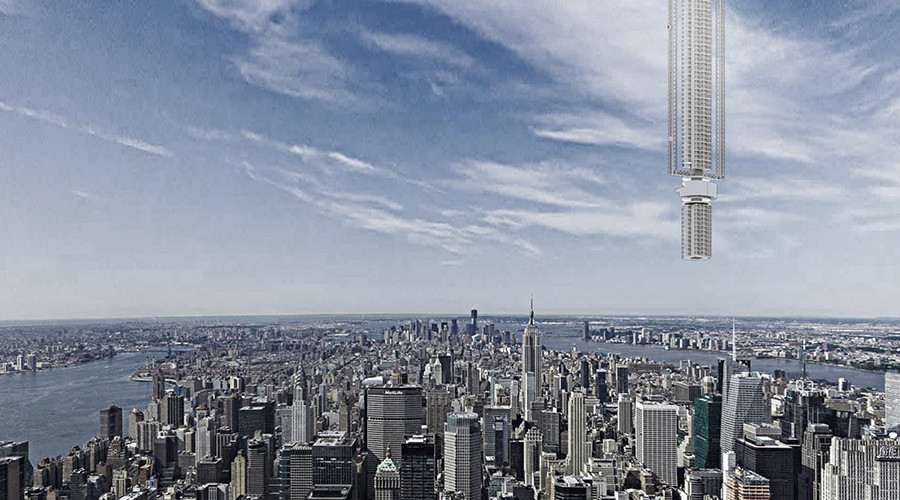 Hang skyscraper from orbiting asteroid: NY architects behind Mars ice station (PHOTOS)