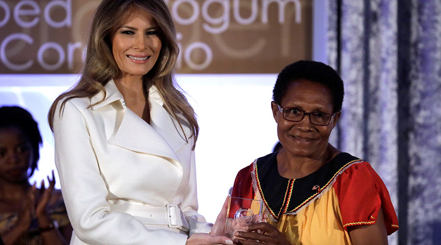 'Time for empowering women... is now': Melania Trump honors international activists