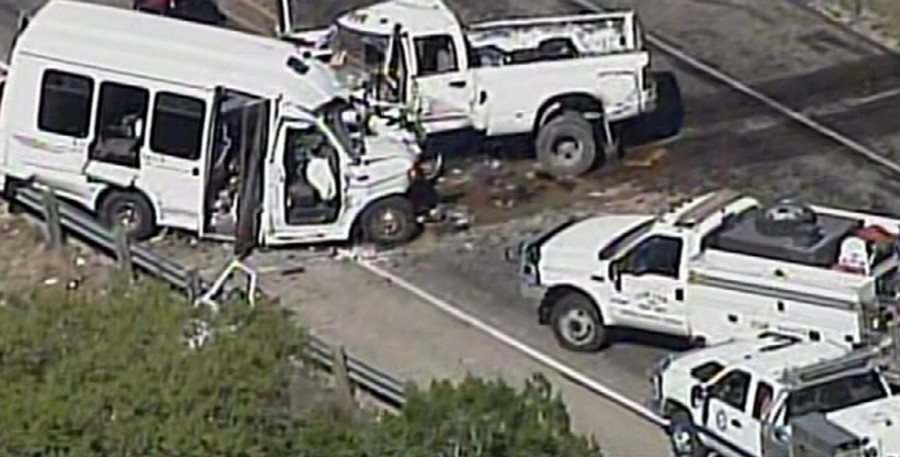 13 dead, 2 injured in church van crash in Texas