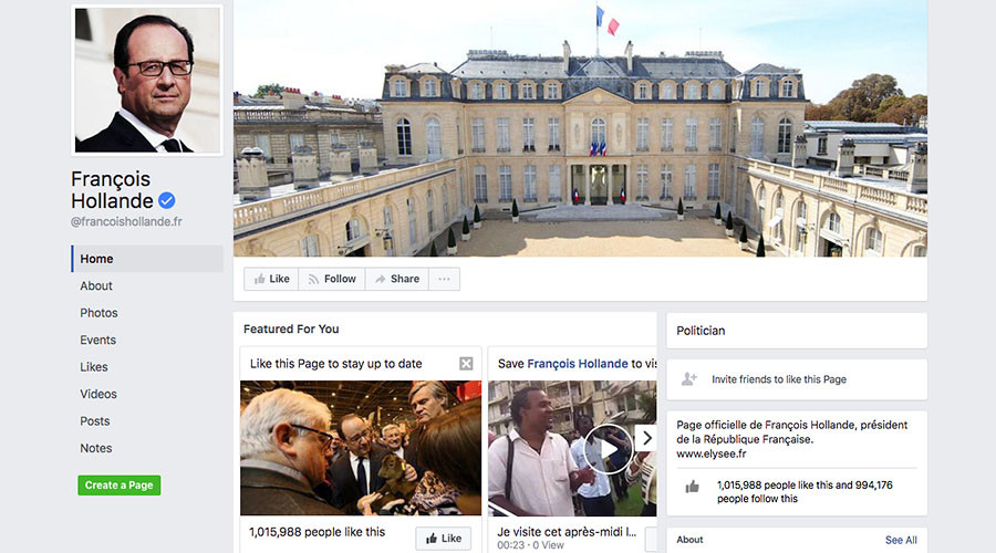 French President Hollande 'invites' everyone to his 'farewell party' in hacked Facebook post