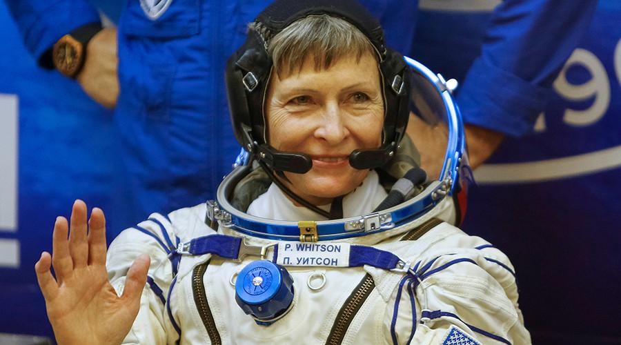Astronaut Peggy Whitson celebrates female spacewalk record