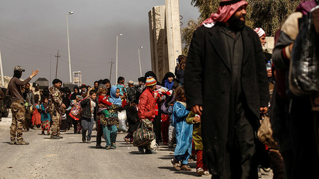 ISIS terrorists try to blend with civilians fleeing humanitarian disaster in besieged Mosul