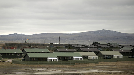 FILE PHOTO. View of the Military Air Base in Mount Pleasant in the Falkland Islands on March 26, 2012. © Martin Bernetti