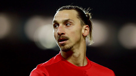 Zlatan Ibrahimovic of Manchester United. © imago sportfotodienst / Global Look Press