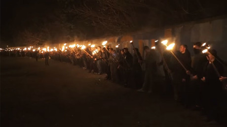 Ukrainian nationalists honor Nazi collaborator & other 'fallen heroes' with torch-lit march (VIDEO)
