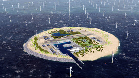 Three European countries want to create artificial power island in North Sea