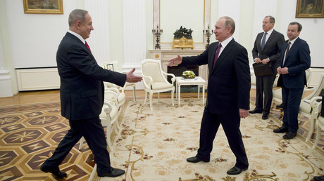 Russian President Vladimir Putin meets with Israeli PM Netanyahu in Moscow © Pavel Golovkin