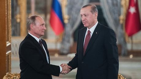 Russian President Vladimir Putin and Turkish President Recep Tayyip Erdogan. © Sergey Guneev