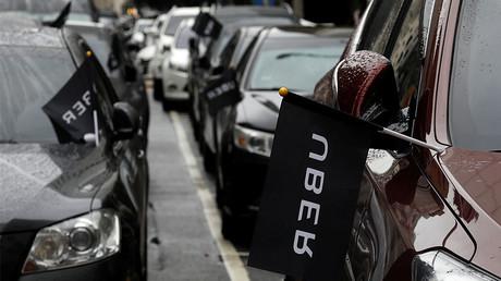 Uber drivers' cars © Tyrone Siu