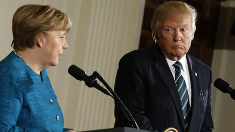 Germany's Chancellor Angela Merkel (R) and U.S. President Donald Trump, Washington, U.S., March 17, 2017. © Joshua Roberts