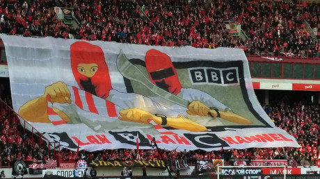 'Blah Blah Channel': Spartak fans taunt BBC over documentary with banner