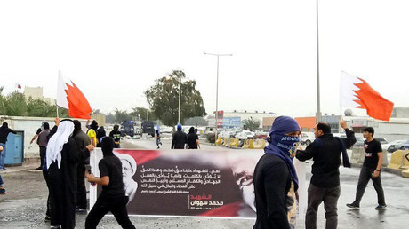 Bahrain police clash with protesters after funeral of activist who died in custody (VIDEO)
