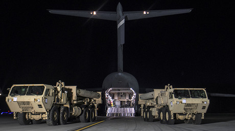 THAAD interceptors arrive at Osan Air Base in Pyeongtaek, South Korea, March 7, 2017 © HO