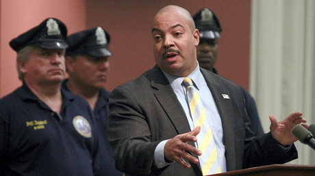 Philadelphia District Attorney R. Seth Williams (C). © Tim Shaffer