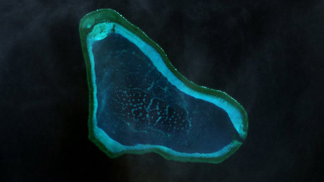 Scarborough Shoal landsat image © Wikipedia