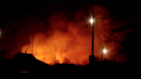 Large munitions depot up in flames in Ukraine, nearly 20,000 evacuated (VIDEO)