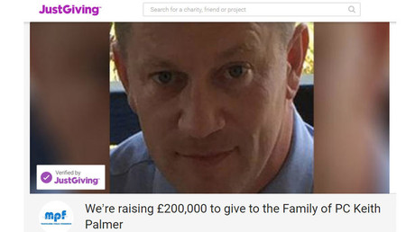 Crowdfunding for police officer murdered in London attack exceeds early target