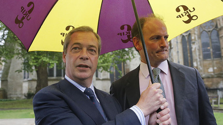 Nigel Farage, leader of the United Kingdom Independence Party (UKIP) and UKIP Party MP Douglas Carswell © Suzanne Plunkett