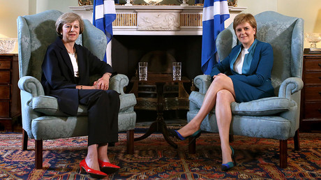 British Prime Minister Theresa May and First Minister of Scotland, Nicola Sturgeon © James Glossop