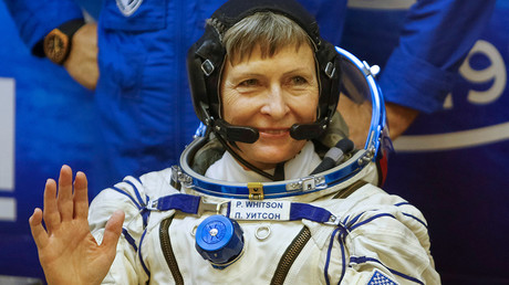 The International Space Station (ISS) crew member Peggy Whitson © Shamil Zhumatov