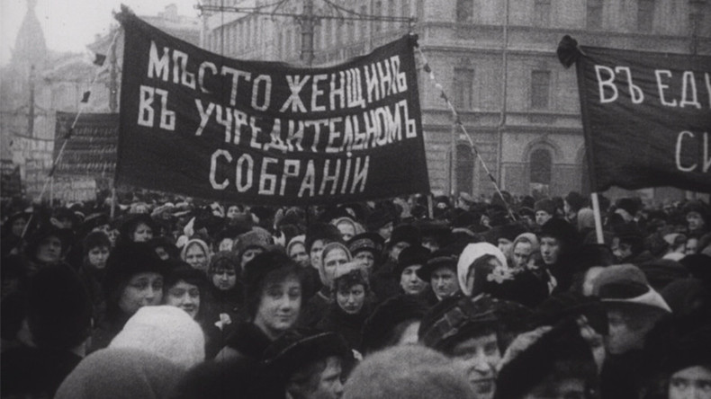 #1917LIVE: Russian women's march that made history (VIDEO, PHOTOS)