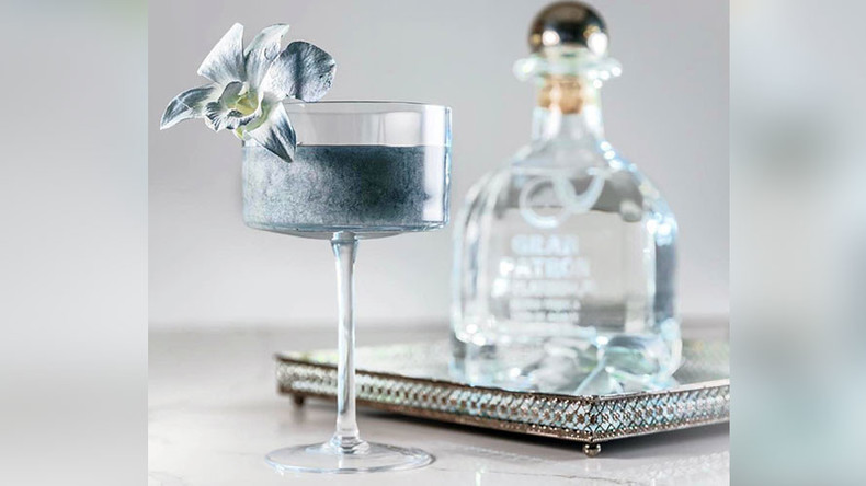 Shimmering liquid platinum margarita for $100 a glass