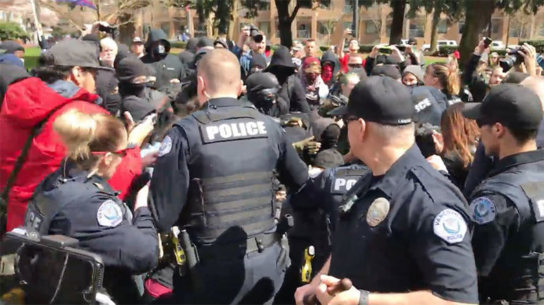 Trump rally stormed by anti-fascist demonstrators in Washington State, arrests made (VIDEOS)