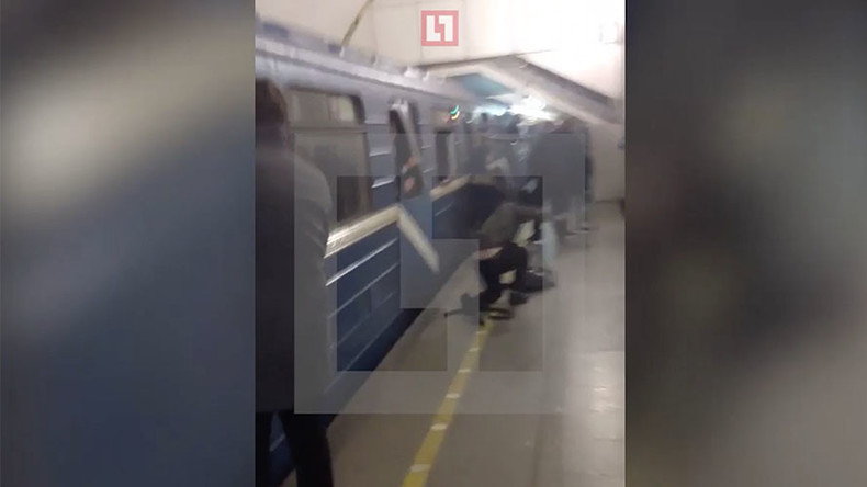 Scenes of panic as people try to escape carnage seconds after St. Petersburg blast (GRAPHIC VIDEO)