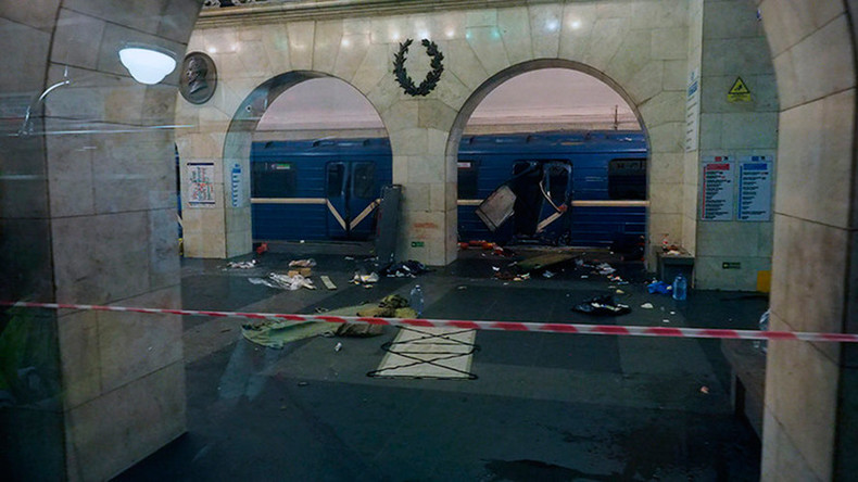 St. Petersburg Metro blast aftermath & investigation