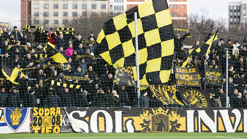 Swedish football fans protest mask ban in stadiums – by wearing niqabs