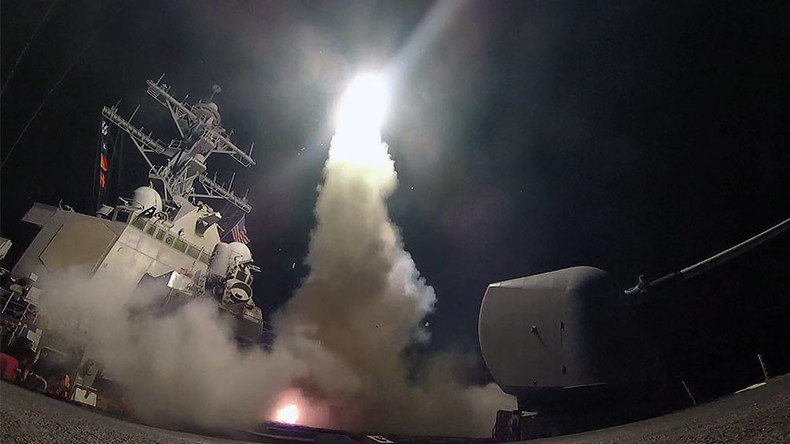 VIDEO of US warships launching Tomahawks against Syrian airbase