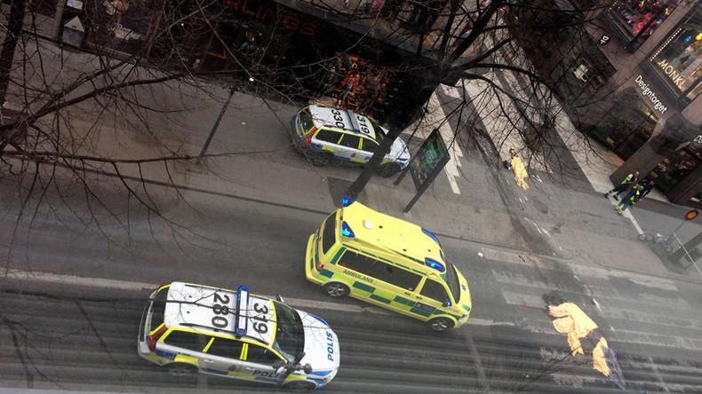 CCTV captures shocking moment truck speeds down Stockholm street (VIDEO)