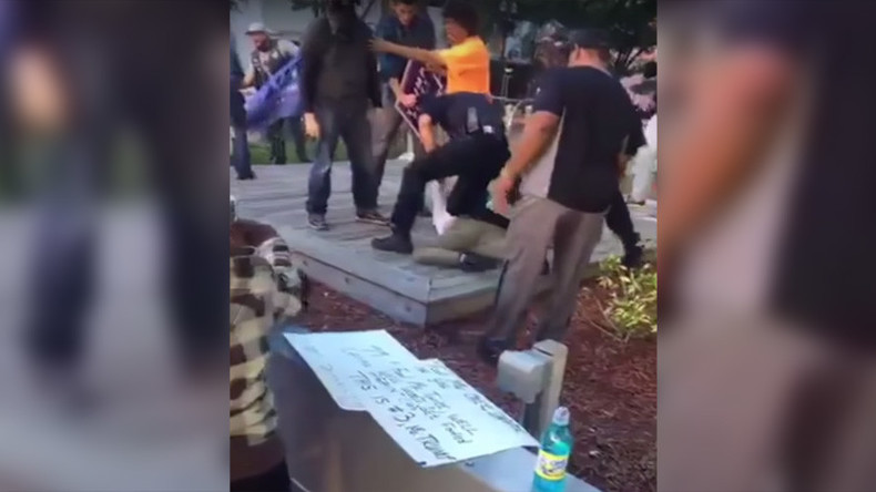 6 arrested amid scuffles at antiwar protest in Jacksonville, Florida (VIDEO)