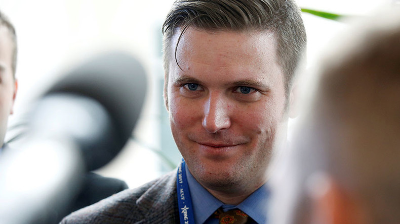 Richard Spencer glitter bombed at anti-war rally near White House (VIDEO)
