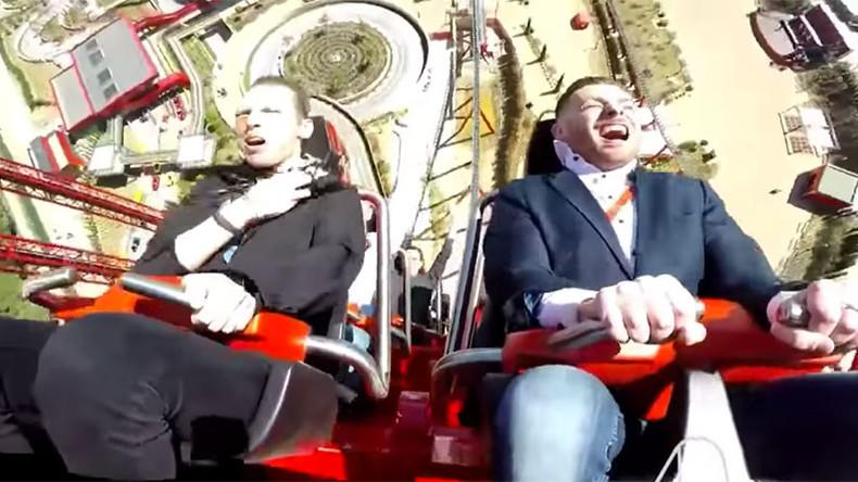 Bird strikes thrill-seeker at 'Ferrari' speeds on newly opened rollercoaster (VIDEO)