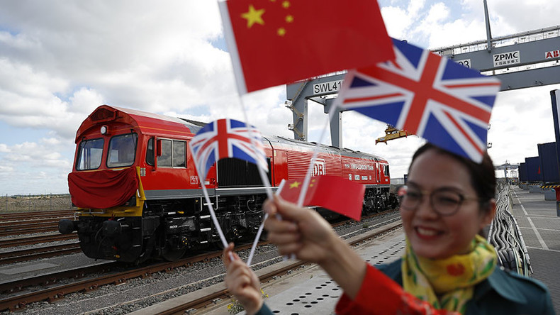 First freight train sets off for China from UK