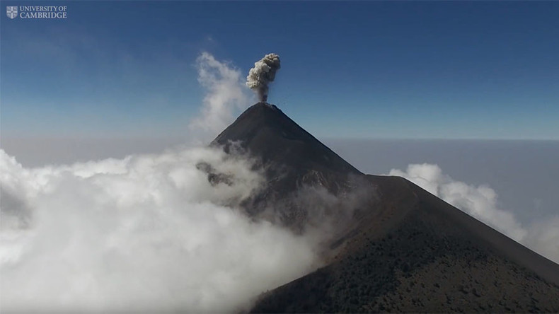 Drones deployed to recon volcanos at risk of major eruption (VIDEO)