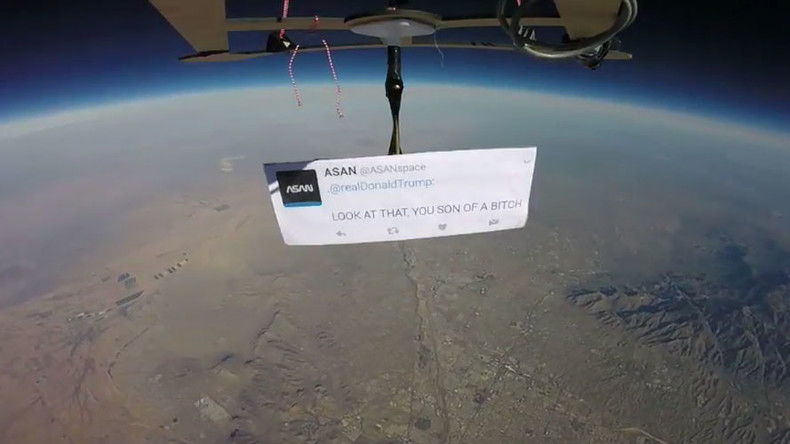 'Look at that, you son of a b*tch': Trump targeted in 'first space protest' (VIDEO)