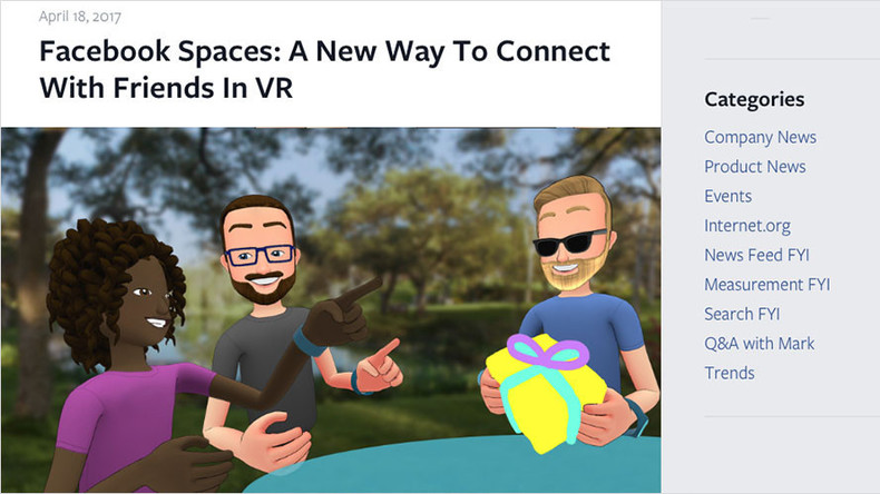 'Like hanging out in person': Facebook launches new VR platform