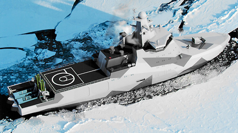 Russia lays down icebreaker patrol boat to bolster Navy's Arctic presence (VIDEO)